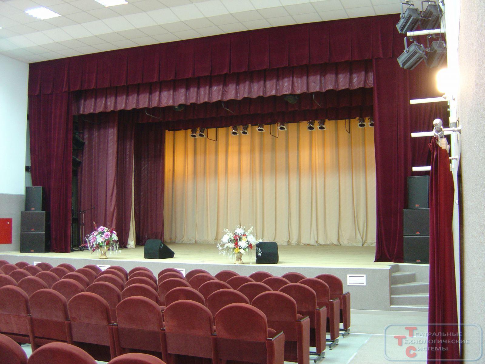 покрытие сцен в актовом зале схема